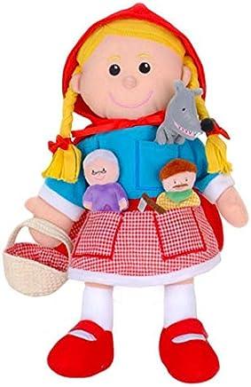 Fiesta Crafts Red Riding Hood set  (Hand & Finger Puppet Set) T-2686