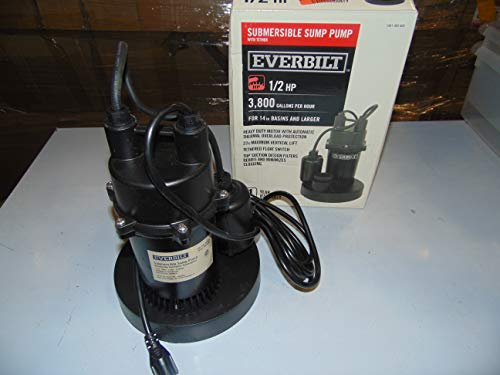 Everbilt SBA050BC 1/2 HP Submersible Sump Pump