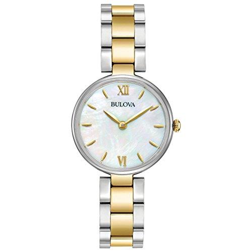 Bulova Diamond Classic 98L226 - Reloj de Pulsera de Diseño para Mujer - Correa Bicolor - Acero Inoxidable - Dorado