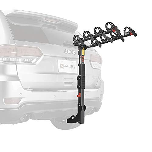 Allen Sports Premier Hitch Mounted 4-Bike Carrier, Model S545, Black