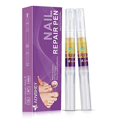 AOVSHEY Nagelpflege Stift 2Pack Nail Treatment für Nagelreparatur pflegend Entfernen Ablagerungen Reparatur Nägel an Händen Füßen und Hand Nägel Jeweils 3ml
