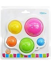 Baby sensoriska leksaker, silikon flip-board fidget leksaker träningsbräda tidig utveckling färgkoncentration för barn i åldrarna 1 till 2