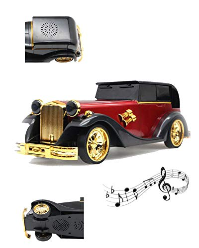 Wireless Stereo Retro Speakers, Portable Bluetooth Cute Vintage Car Speakers with Loud Volume, TF Card,for Kitchen Bedrooms Party Outdoor Android iOS