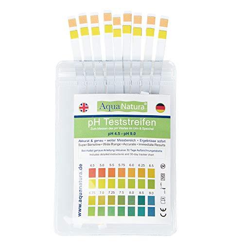 Aquanatura pH Teststreifen Urin & Speichel (25 Stück) Checken Sie Ihren Säure-Basen-Haushalt über den Speichel oder den Urin