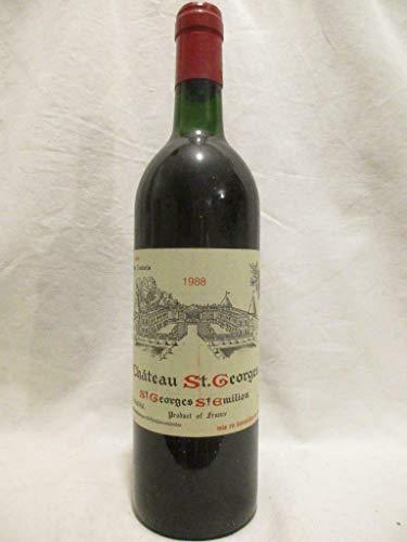 saint-georges saint-émilion château saint-georges rouge 1988 - bordeaux