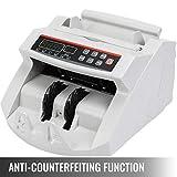 VEVOR FJ0288 Geldzählmaschine Weiß mit Echtheitprüfung Banknotenzähler 1000 Stück/min mit UV- und MG-Systeme 7 kg Geldscheinzähler mit LED Bildschirm für Euro Dollar Pfund (26 x 23,5 x 17 cm) - 7