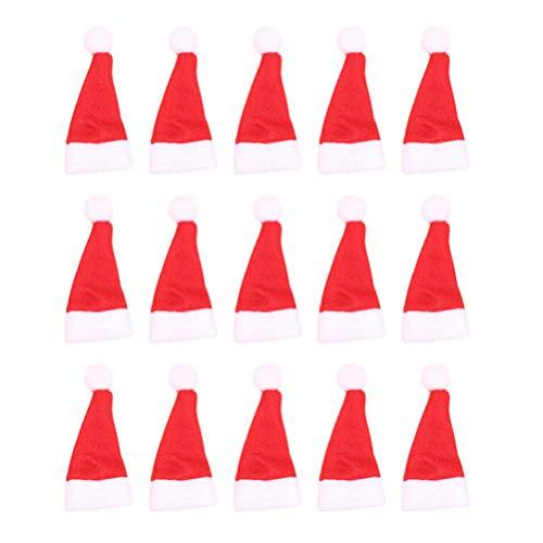 NUOBESTY - Lote de 50 gorros para piruletas de Navidad, diseo de Pap Noel, No tejido, 60 piezas, talla 2