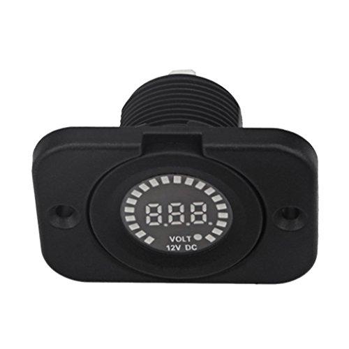 perfk DC 12V LED Digital Panel Voltímetro Voltímetro Medidor Para Coche, Motocicleta, Barco, ATV, Camper, Caravanas, Remolque De Viaje