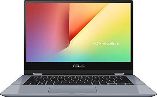 """ASUS VivoBook Flip 14 TP412UA-EC175T - Ordenador portátil de 14"""" (Intel Core i3-7020U, 4 GB RAM, 128 GB SSD, Intel HD 620, Windows 10 Home S) Plata Azul - Teclado QWERTY Español"""
