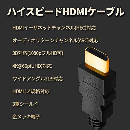 『FSC ハイスピードHDMIケーブル Ver1.4 イーサネット/4K/3D/オーディオリターン (5m)』の2枚目の画像
