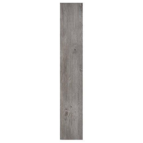 "Floor Planks Do it Yourself Peel N' Stick Vinyl Wood Look Planks (6"" x 36"", Light Gray Oak)"