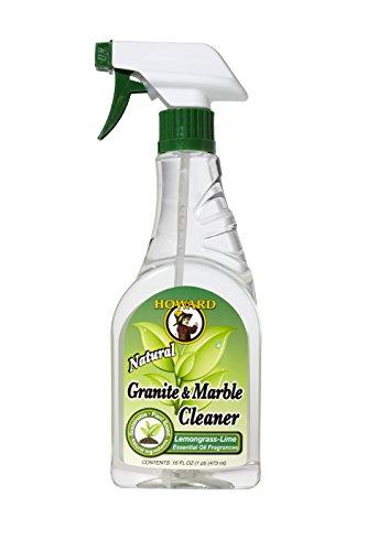 Howard GM5012 16oz or 473ml Natural Granite & Marble Cleaner, Lemongrass &...