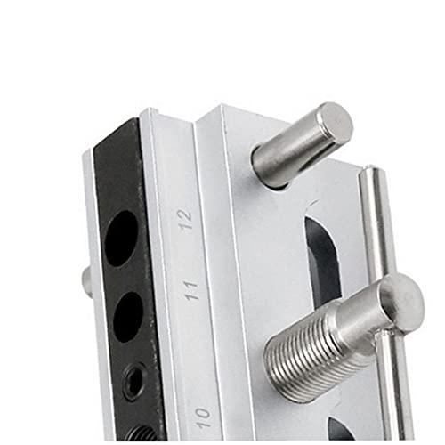 IUwnHceE Pasador Jig Kit de carpintería ponche Localizador de autocentrado enclavijar Jig Kit de Plata para el Bricolaje carpintería métrica Herramienta Multifuncional Accesorio
