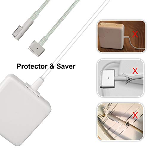 charger adapters with cables Charger Cable Protector,Adapter Cable Saver Compatible with 45W/60W/85W, Dual Ends Protector,1Pack