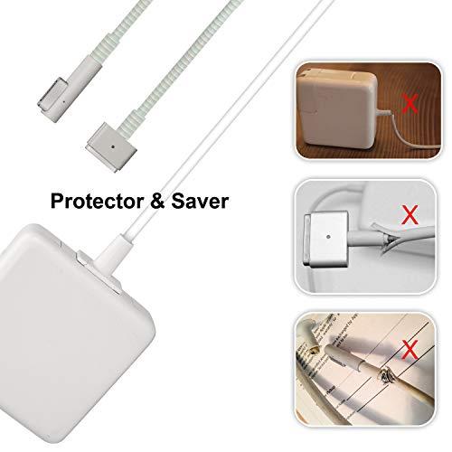 Protector de cable de carga para Mac-Book, adaptador de ahorro de cables compatible con 45 W/60 W/85 W, protector de extremos duales, 1 paquete