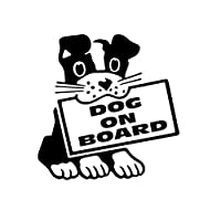 Rebirtha ボード漫画の装飾子犬のアクセサリー反射ビニールデカールブラック/シルバー、13センチメートル* 12センチメートルのパーソナリティ車のステッカー犬 Rebirtha (Color Name : Black)