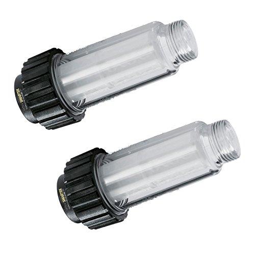 """2 Wasserfilter inkl. Filtereinsatz (5.731-050.0) für alle Hochdruckreiniger mit 3/4\"""" Wasser-Anschluß wie Kärcher K2-K7 kompatibel mit 4.730-059.0 von ONE!"""