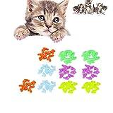 VICSPORT - Tappi per unghie con artigli per gatti, zampe di gatto, 100 pezzi