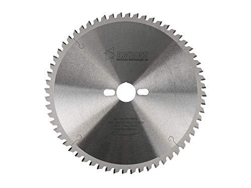 Amboss - HM Kreissägeblatt für Holz - Ø 254 mm x 2,8 mm x 30 mm | für Kappsägen | Kombinebenlöcher | WZ negativ (60 Zähne)