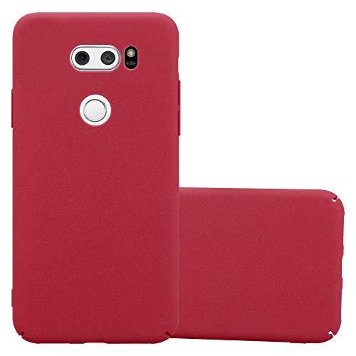 Cadorabo Custodia per LG V30 in FROSTY ROSSO - Rigida Cover Protettiva Sottile con Bordo Protezione - Back Hard Case Ultra Slim Bumper Antiurto Guscio Plastica