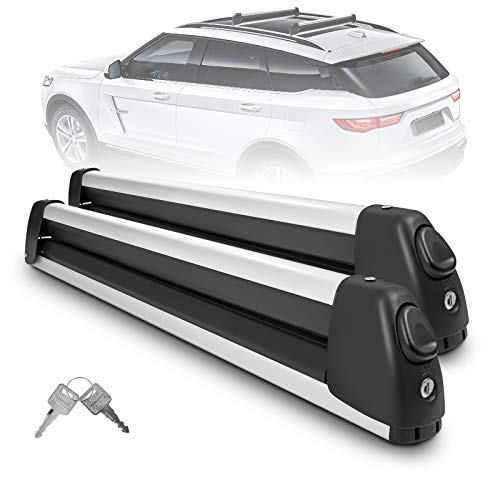 YITAMOTOR Ski Carrier, 30' Universal Aluminum Ski & Snowboard Rack for Ski & Snowboard Carrying, Large (3 Boards)