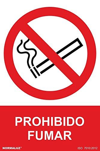 Normaluz RD40000 bord van PVC, verboden roken, 21 x 30 cm, rood