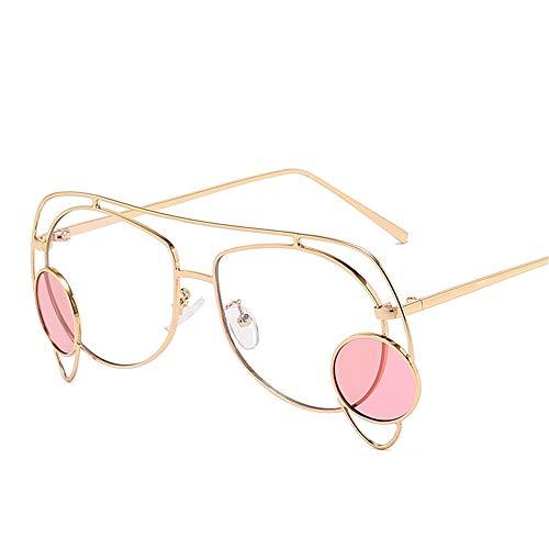 DURIAN MANGO Universal Sonnenbrille für Herren und Damen Modische Sonnenbrille mit unregelmäßigem Metallrahmen,Clear