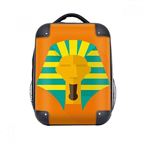 DIYthinker Das alte Ägypten abstraktes Muster Pharao harter Kasten Schulter Kind-Rucksack-Geschenk 15