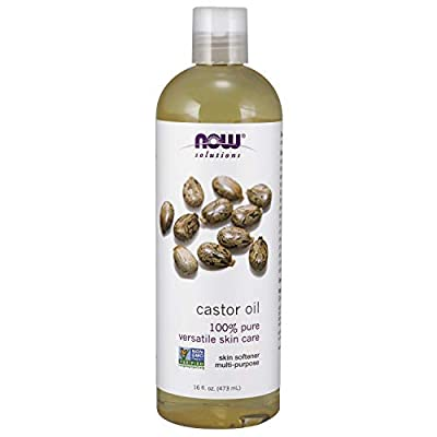 Now Solutions Castor Oil, 100% Pure, 16 Ounce
