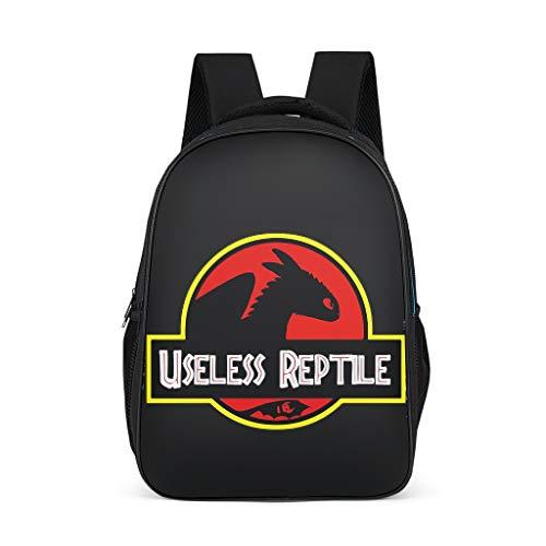 BOBONC Nuttig Reptil patroon schoolrugzak mini schooltas backpack jeugd school rugzak functionele rugzak voor meer opbergruimte outdoor 32 cm * 18 cm * 42 cm Jurassic