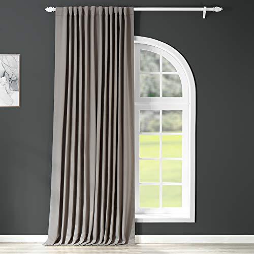 HPD Half Price Drapes BOCH-174402-108-DW Extra Wide Blackout Room Darkening Curtain (1 Panel), 100 X 108, Neutral Grey