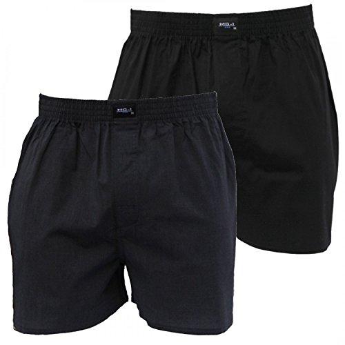 MG-1 2 Webboxer Basic Boxershorts Herren American Shorts Übergrössen M-6XL Farbwahl, Grösse:5XL - 12-62, Farbe:Set 2