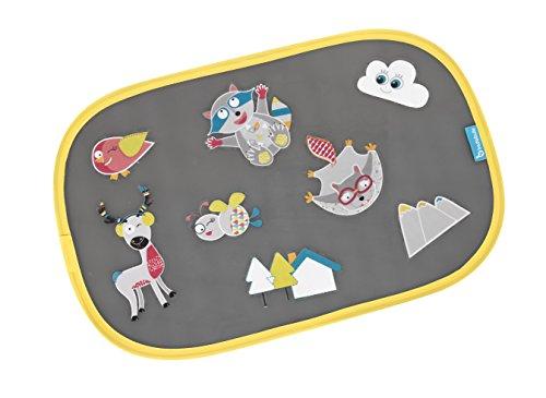 Badabulle B070000 Sonnenschutz für das Auto Bergtiere, 2-teilig, selbsthaftend, mit Sticker zum Selbstbekleben, mehrfarbig