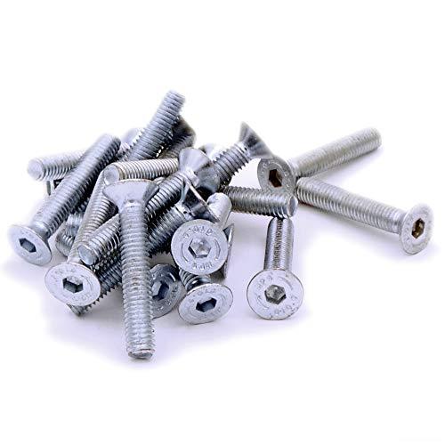 lot de 50 Machine /à t/ête frais/ée Vis//boulons T/ête Pozidriv CSK Plaqu/é zinc M5/5/mm x 16/mm