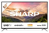 Sharp Aquos 4T-C50BL3EF2AB - 50' Smart TV 4K Ultra HD Android 9.0, Wi-Fi, DVB-T2/S2, 3840 x 2160 Pixels, Nero, suono Harman Kardon, 4xHDMI 3xUSB, 2019