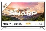 Sharp Aquos 4T-C50BL3EF2AB - 50' Smart TV 4K Ultra HD Android 9.0, Wi-Fi, DVB-T2/S2, 3840 x 2160...