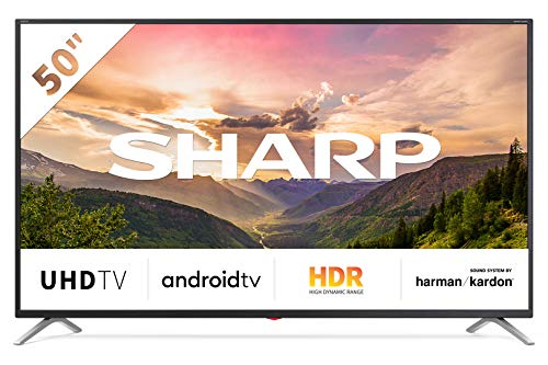 "Televisor Sharp 50BL3EA - TV Android 50"" (4K Ultra HD, 4 x HDMI, 3 x USB, Bluetooth), color negro"