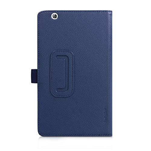 kwmobile Huawei MediaPad M3 8.4 Hülle - Tablet Cover Case Schutzhülle für Huawei MediaPad M3 8.4 - Dunkelblau mit Ständer - 3