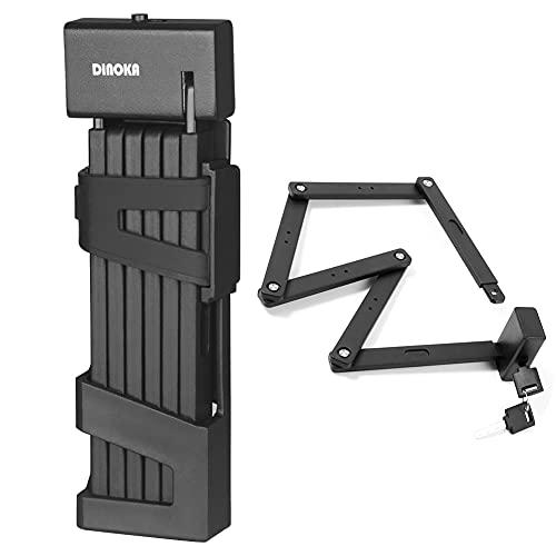 DINOKA Antivol de vélo, serrure de vélo pliante portable de 105 cm de long Très sûr et durable...