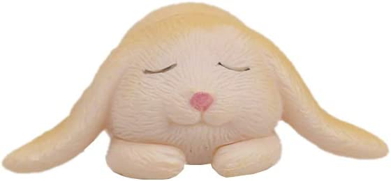 Yello QTFHR 7 pcs Cute Rabbit Animal Figurine Crafts DIY Miniature Garden Miniature House Home Decoration