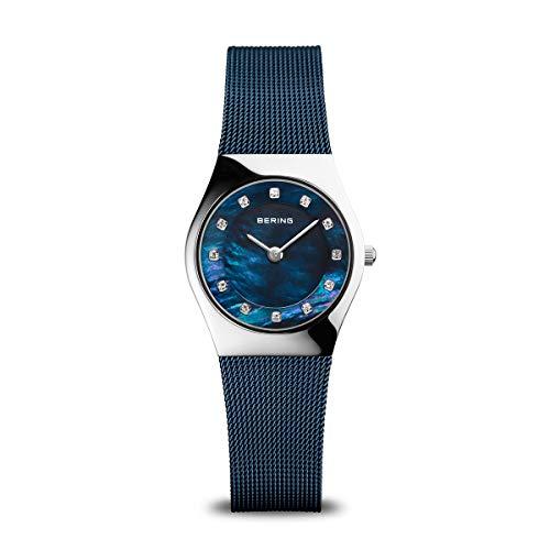 BERING Reloj Analógico Classic Collection para Mujer de Cuarzo con Correa en Acero Inoxidable y Cristal de Zafiro 11927-307