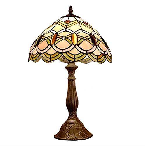 MISLD Lámpara Tiffany Art Deco Tiffany Lámpara Lámpara Art Deco Tiffany Lámparas para Lounge Bar Dormitorio Rural Lámpara De Noche Tiffany Lámpara Tiffany Lámparas Tiffany
