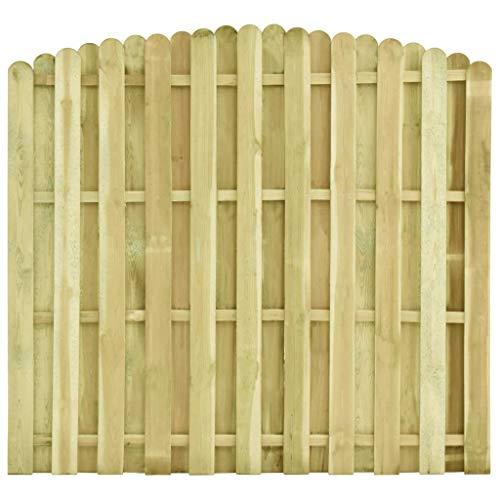 Festnight Panneau de clôture Panneaux Salle Bois de pin imprégné FSC 180x(155-170) cm