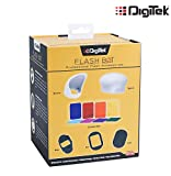Digitek Professional Flash Kit, Better Choice Than magmod Photography kit, MagSphere, MagBounce, MagGrid, MagGel, MagGrip, Creative Gels (DFB 001)