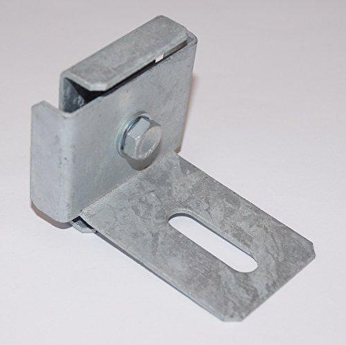 GABIONA Klammer mit Zaun-Halter für Steinkorb Gabione feuerverzinkt (5 x 5 cm)