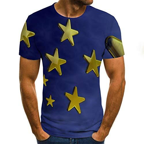 LKFTH Camiseta Divertida 3D para Hombre Ropa con Estampado
