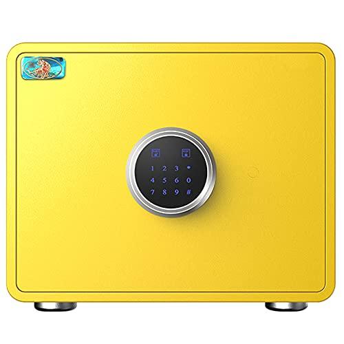 Caja de seguridad, caja fuerte con bloqueo de código electrónico de pantalla táctil, material de acero de aleación, función de alarma dual, gran espacio/B / 36cm×25cm×25cm