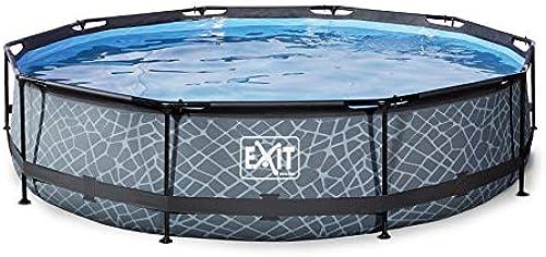 EXIT Stone Pool  0x76cm mit Filterpumpe - grau