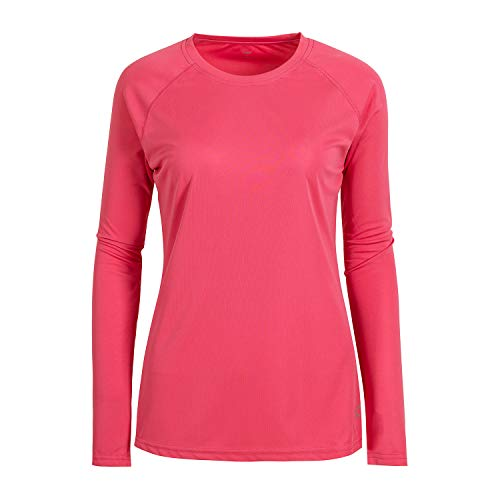 Women's UPF 50+ UV/Sun Protection Long Sleeve T-Shirt(2XL,Pink)