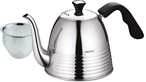 Kinghoff Moderner und Eleganter Espressokocher (Edelstahl)